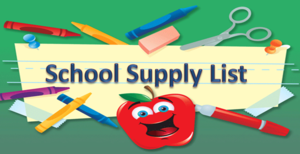 Student Supply List